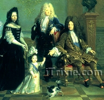 Louis XIV and His Family by Nicolas de Largillière